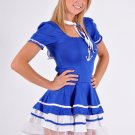 Royal Blue Sailor Girl Fancy Dress X-Large