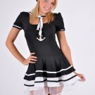 Black Sailor Girl Fancy Dress Large
