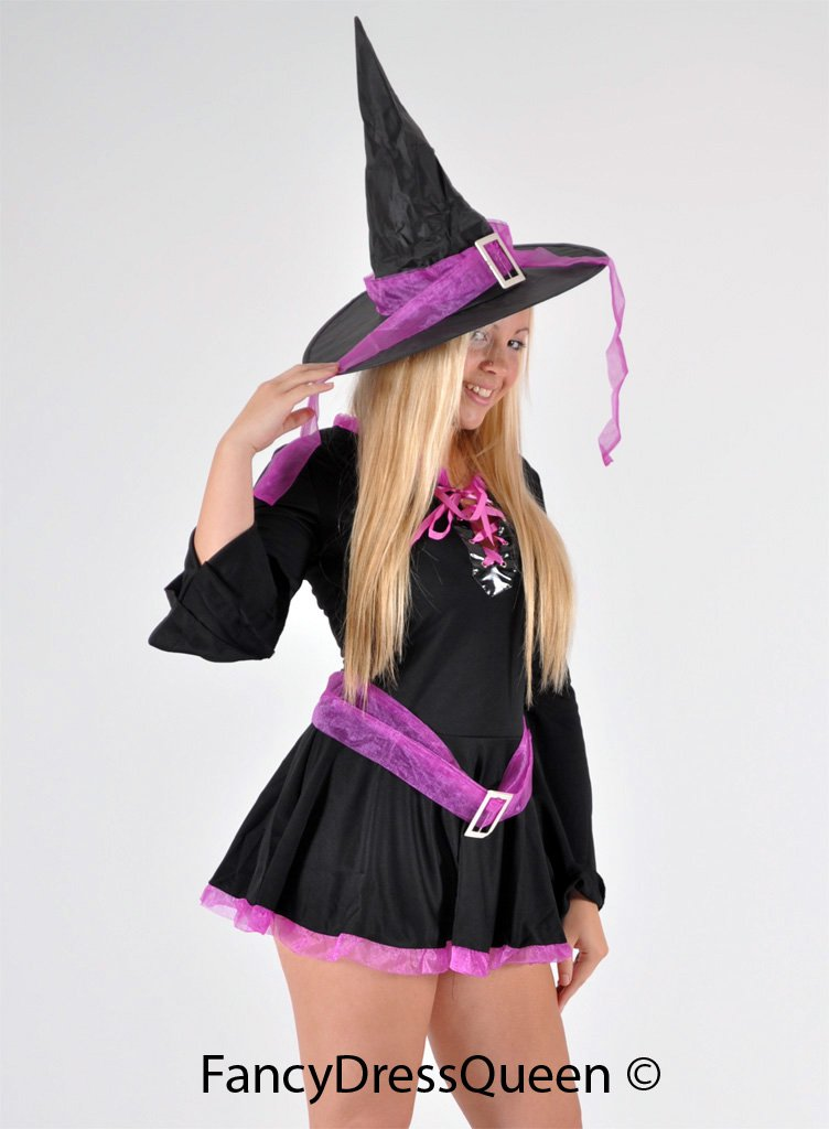 Black and Pink Halloween Witch Costume