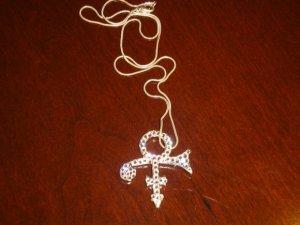 Prince Symbol Necklace with Diamond Swarovksi Crystals