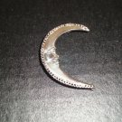 Prince Moon Ear Wrap with Diamond Swarovski Crystals - 100% Sterling Silver