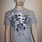 TapOut T-Shirt - Grey with Skulls - M