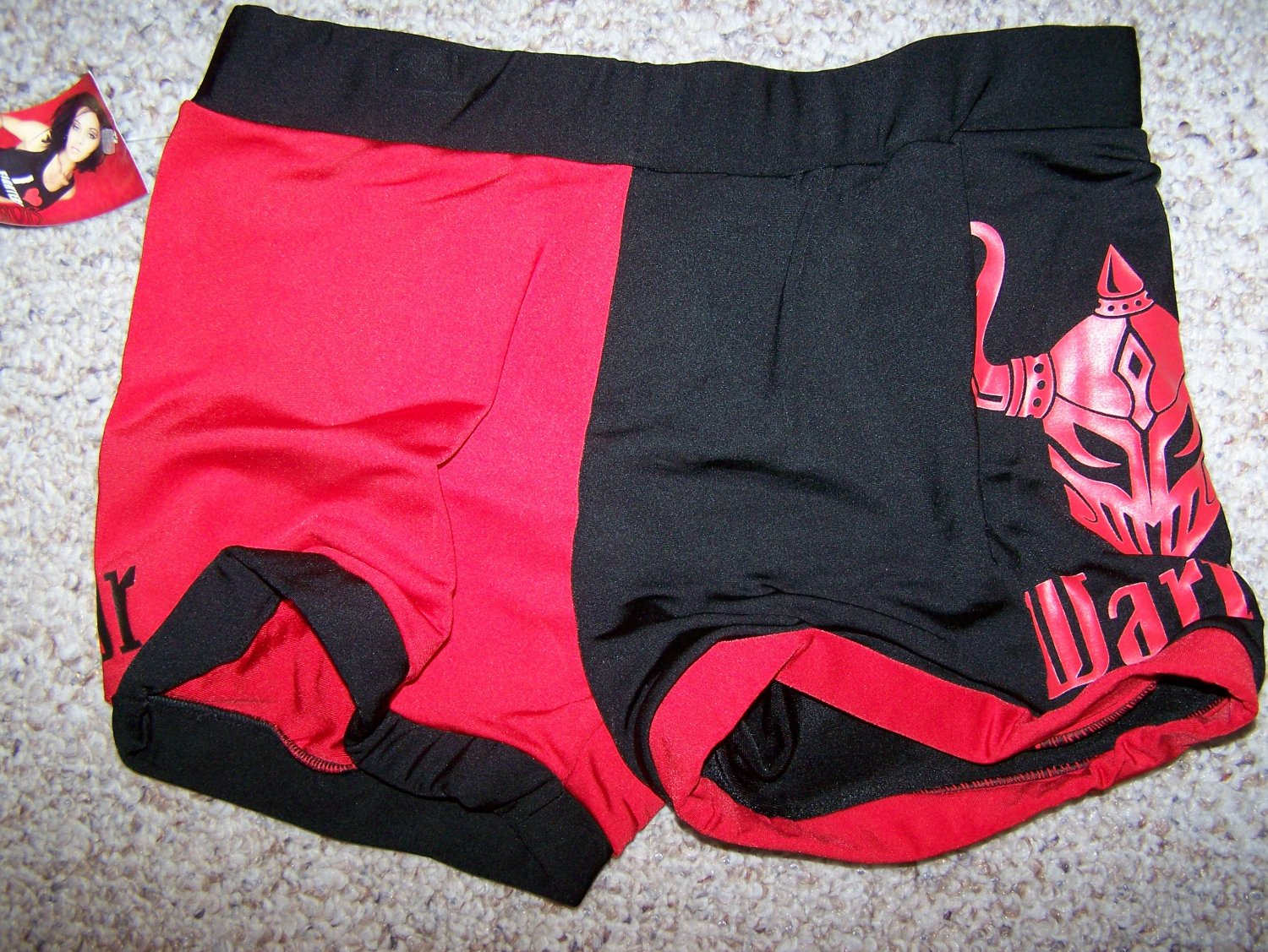 Warrior Wear Fighting Shorts - Red/Black - Med