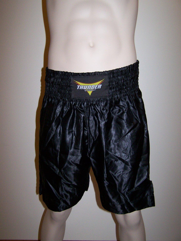 THUNDER - Boxing / MMA Shorts - Black - Med