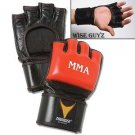 ProForce® Thunder Leather MMA Gloves - Red/Black - L/XL