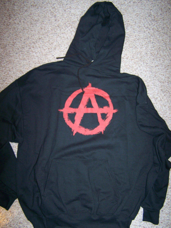 ANARCHY - Black Pullover Hoodie - XL