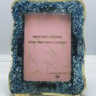 medium natural gemstone photo frame, picture frame