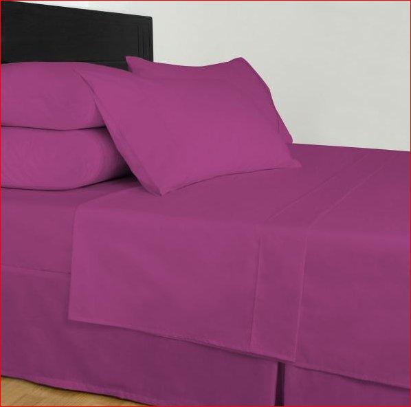 1000tc Egyptian Cotton Fuschia Queen Bed Sheet Set
