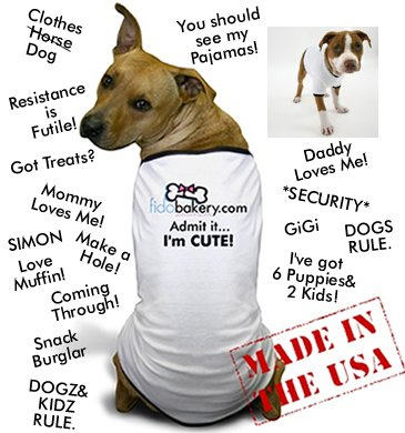 FidoBakery.com PetPals(TM) Customized Dog T-Shirt