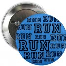 "run (blue) 1.25"" pinback button pin / badge (g3)"