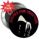 "set of 10 justice for trayvon 1.25"" pinback buttons pins / badges - trayvon martin (g3)"