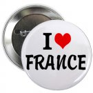 "i heart love france 1.25"" pinback button pin / badge (g6)"
