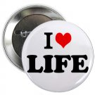 "i heart love life 1.25"" pinback button pin / badge (g6)"