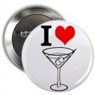 "i heart love martinis 1.25"" pinback button pin / badge (g6)"