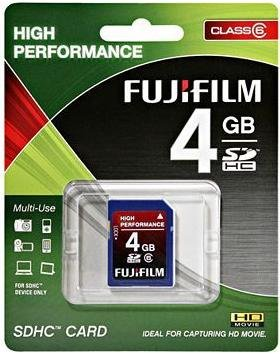 NEW FUJIFILM 4GB CLASS 6 HIGH PERFORMANCE SDHC CARD