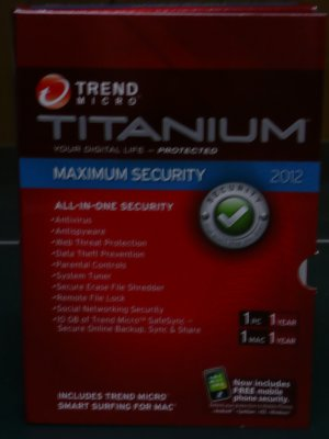 Trend Micro� Titanium Maximum Security 2012 + free 2013 upgrade