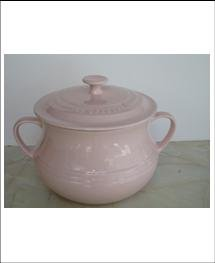 Le Creuset PINK stoneware Bean Pot 4.2 quart NEW