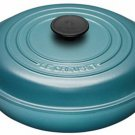 Le Creuset Cast-Iron 2-1/4-Quart Buffet Shallow Casserole, Teal Blue BRAND NEW