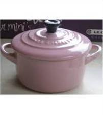 "Le Creuset Stoneware Mini Cocotte Pink round 2"" - 8-ounce"