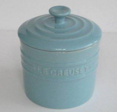 Le Creuset Stoneware Storage Jar, Satin blue, 0.8 Litre