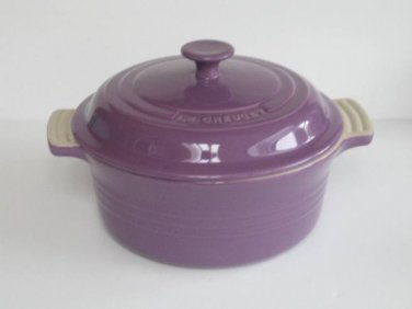 Le Creuset Stoneware 2 Quart Covered Round Casserole, Purple