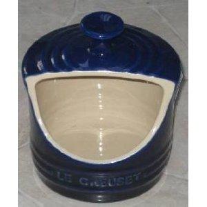 Le Creuset Stoneware 10 oz Salt Crock Cobalt Blue NEW