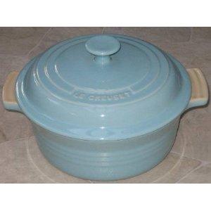 Le Creuset Stoneware 2 Quart Covered Round Casserole, Satin Blue