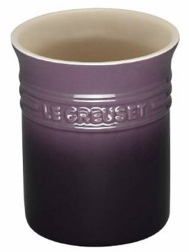 Le Creuset Stoneware Utensil Crock Cassis 37.1 ounce new