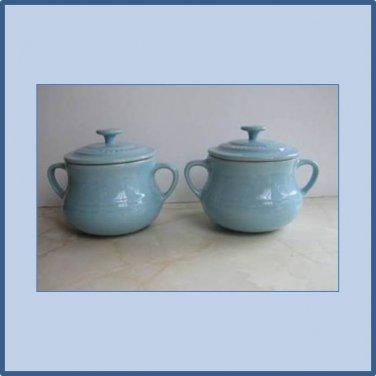 Le Creuset Stoneware Bean pots, Satin Blue, 0.5 Litre