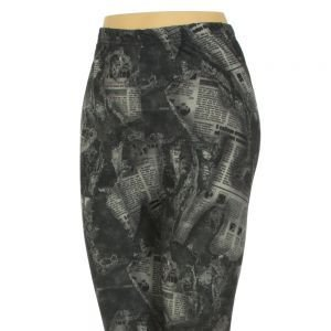 Newspaper print Jaquard Leggings