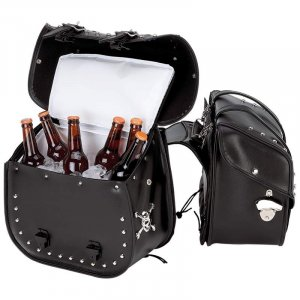 Motorcycle saddle bag / cooler