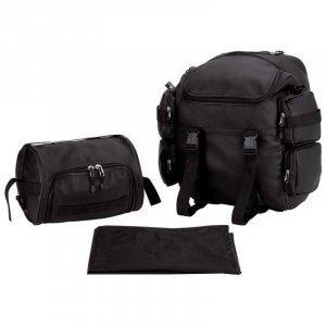 Motorcycle Backpack & Barrel Bag Set