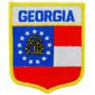 Georgia State Flag Shield Patch