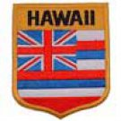 Hawaii State Flag Shield Patch