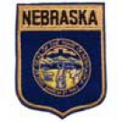 Nebraska State Flag Shield Patch