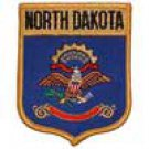 North Dakota State Flag Shield Patch