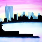 Original Oil Painting Of New York On Pre Stretched Canvas