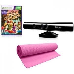 MICROSOFT Kinect Sensor with Kinect Adventures and Pink Yoga Mat for XBOX 360 0005