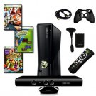 MICROSOFT XBOX 360 Slim 4GB Kinect  with Games, Remote, HDMI Cable, and More 0018
