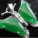 jade pendant, green jade butterfly pendant. Beautiful girl of choice.