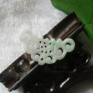 White jade pendant, hand-carved jade butterfly pendant hollow. Selection of beautiful girls