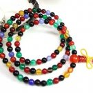 Tibetan Buddhism, natural colorful agate, 108 beads, meditation, yoga, horse-drawn