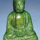 Chinese old jade, retro green jade Buddha, small ornaments, hand
