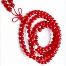 Tibetan Buddhist prayer beads, 6 mm red coral beads, meditation beads 108