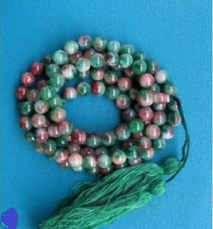 A multi-color jade beads, .8 mm beads, meditation, Yoga Mala 108 beads.