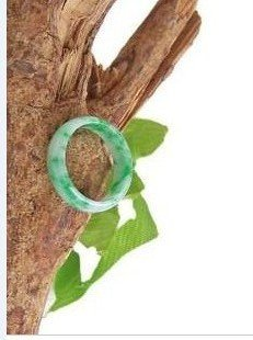 Natural color jade, hand-carved, the charm of floating green rings, Christmas gifts