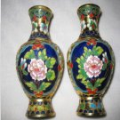 Vintage filigree cloisonne vase a pair. Ornamental. Collectibles.