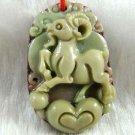 Hand-carved Zodiac - Sheep pendant. Purple, amulet