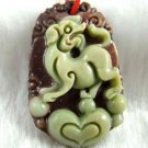 Hand-carved Zodiac - Purple Jade, dog pendant. Amulet