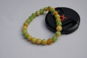 The seven colors of jade. Bracelet.Rosary. 8 mm beads, 24